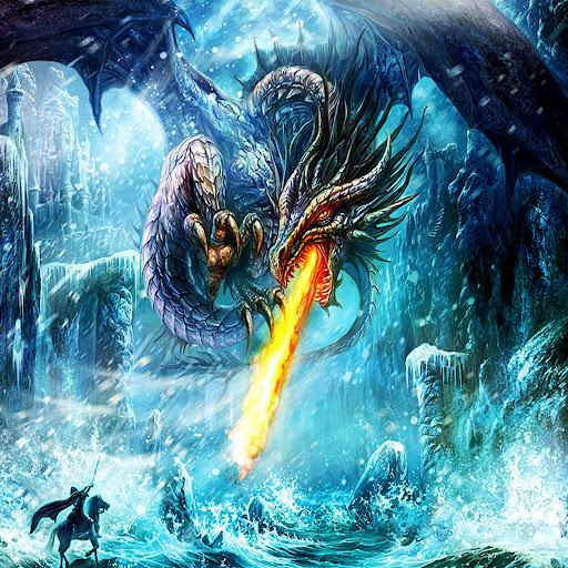 cool ice dragon wallpaper