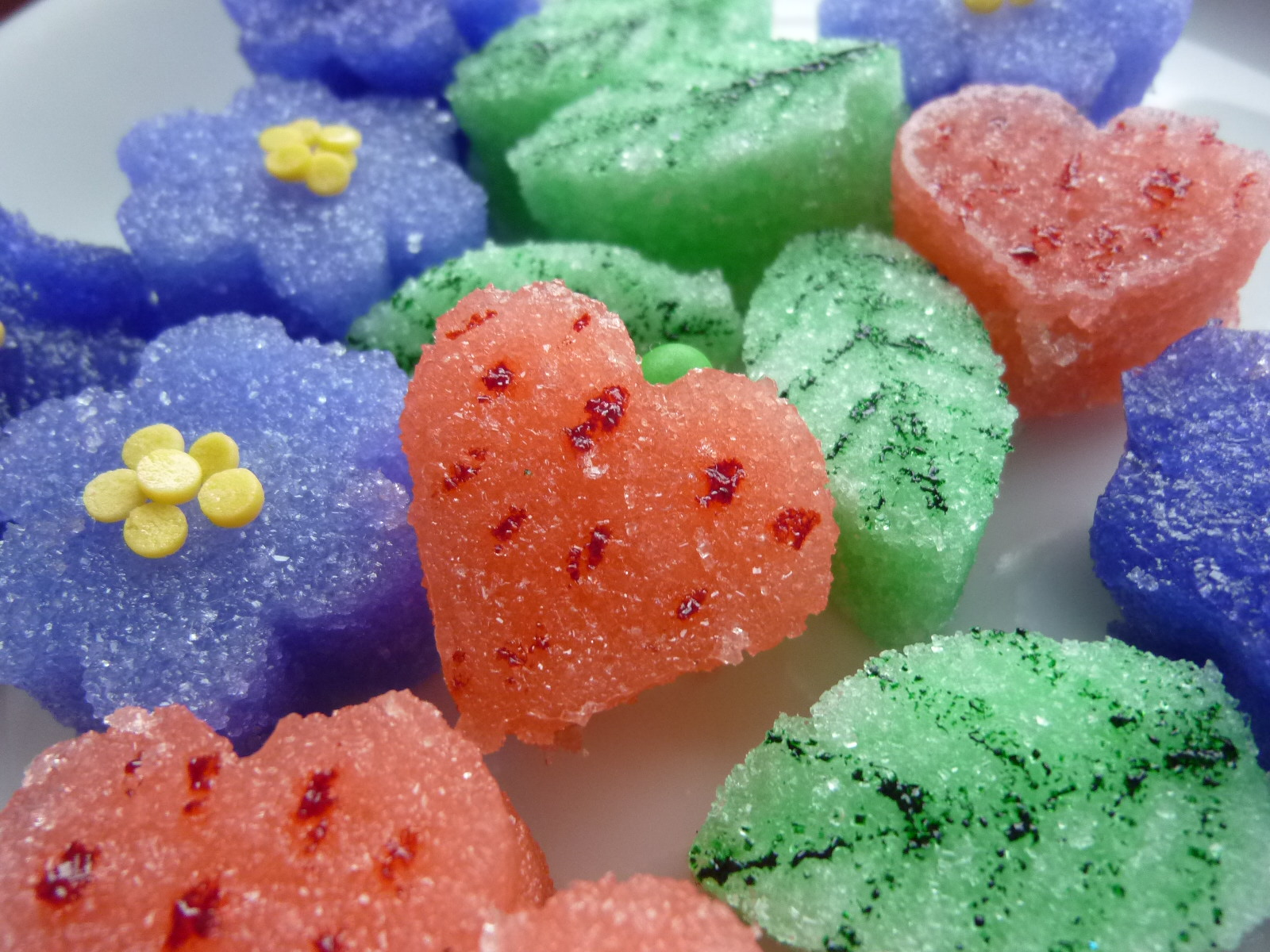 Colored, Flavored Sugar Shapes for Tea & February\'s Food ...