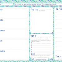 Planner Printable Download | Vert Cerise