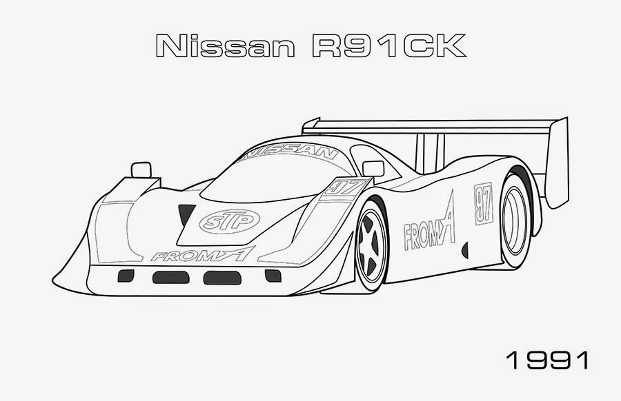 Cars : Nissan GTR Coloring Page, NissanGTR Coloring Page