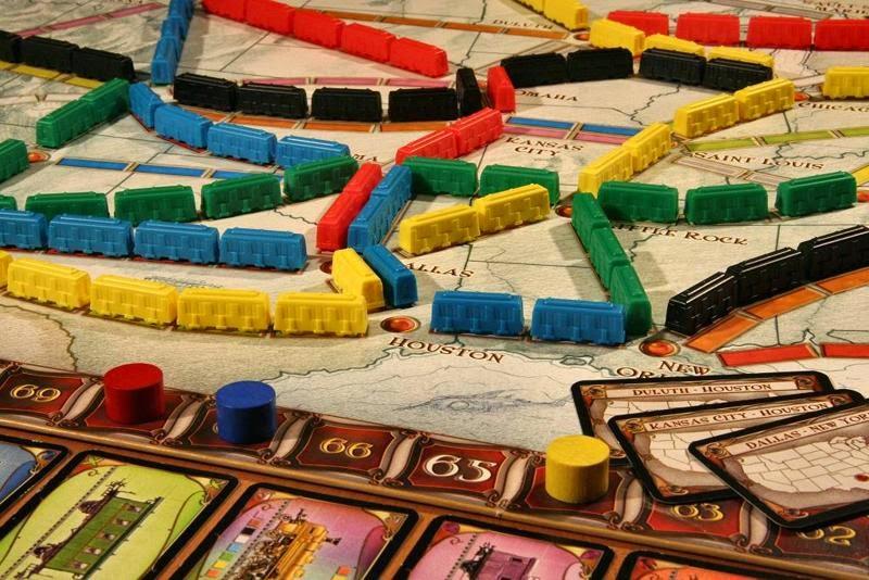 Aventureros al tren. Juegos de mesa modernos