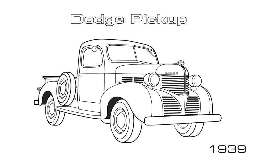 Kleurplaat Dodge • Kidkleurplaat.nl