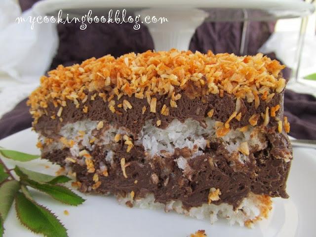 Торта шоколадово-кокосова Нирвана