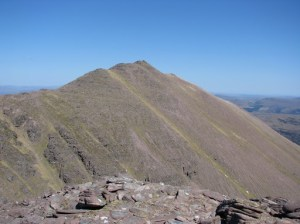 Glas Mheall Mor from ascent of Bidein a Ghlas Thuill