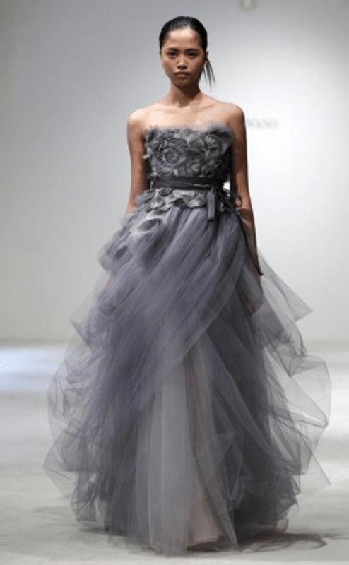 Vera Wang Gray Dress Wedding ~ WEDDING DRESS