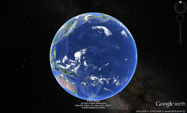 Sheer size of the Pacific Ocean.