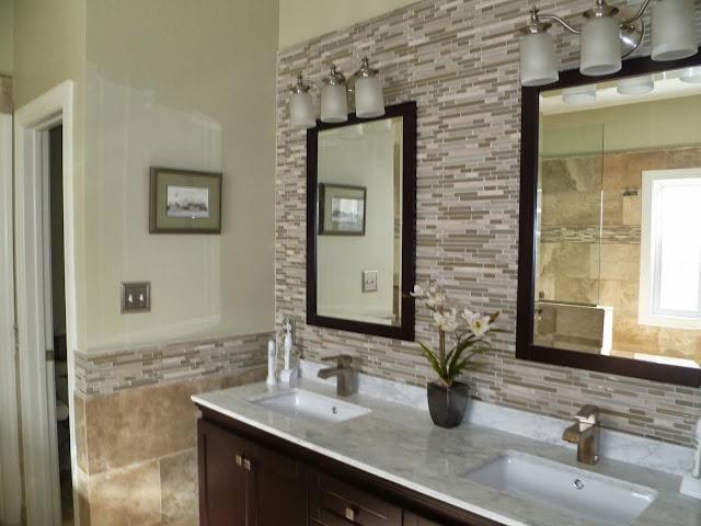EarthTone Bathroom Tiling Project  Sea Haggs Hampton