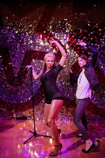 Beyonce Wax Figure at the Las Vegas Wax Museum.