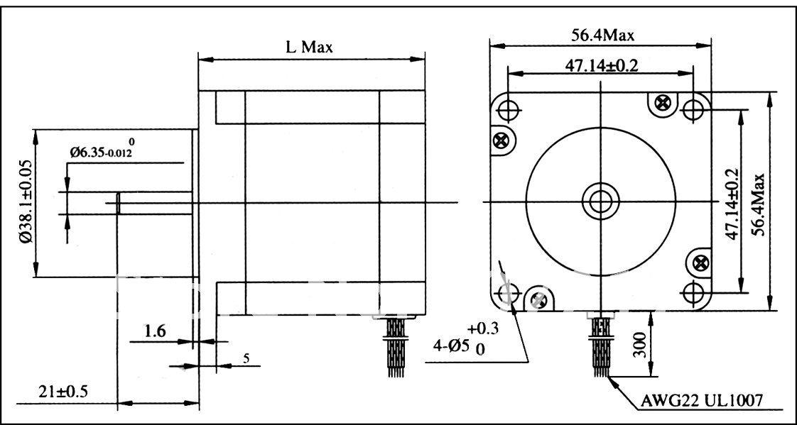 ชุดคอนโทรล CNC kit ชนิด 3 แกน + NEMA23 ขนาด 56mm.Stepping