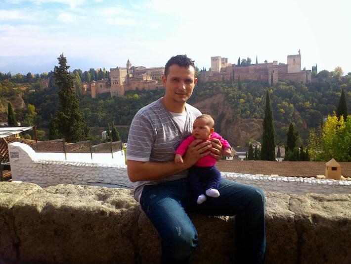 Ruta por Andalucía. La Alhambra desde el mirador de San Nicolás, Granada