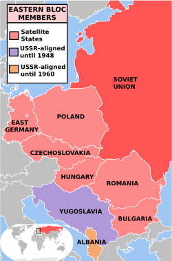 Map of the Eastern Bloc