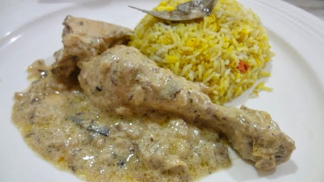 Creamy white Curry Chicken