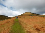 There was a mix of sun and cloud as I started to ascend Steel Fell