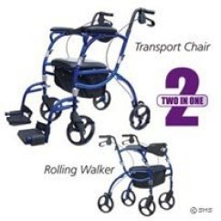 Walker Transport Chair In One Hugo Navigator Hydraulic Racing Simulator Airgo 2 1 Rollator Pacific Blue See More Product Images And Reviews Here First Full