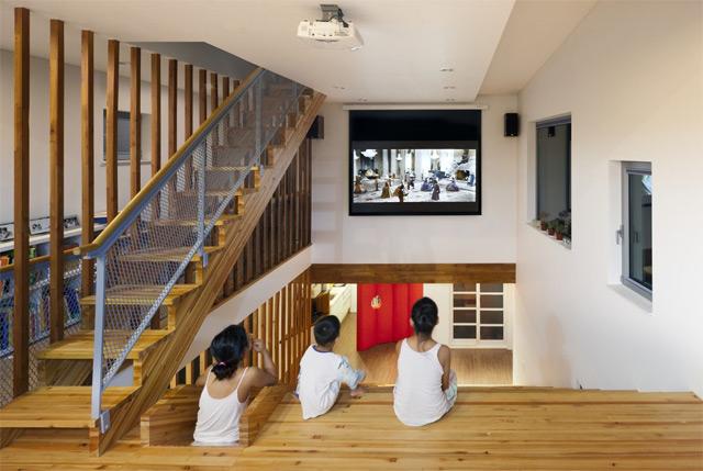 *首爾 Moon Hoon 全景六角形建築設計:溜滑梯+樓梯+書櫃強大結合! 5