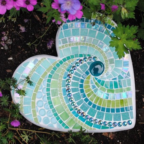 Rock Mosaic Stepping Stones