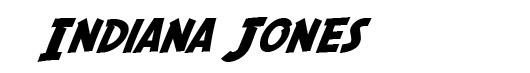 SF Fedora font logo Indiana Jones