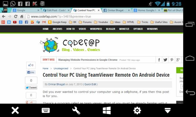 TeamViewer Remote On Nexus 4