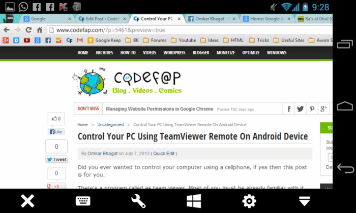 TeamViewer Remote On Nexus 4
