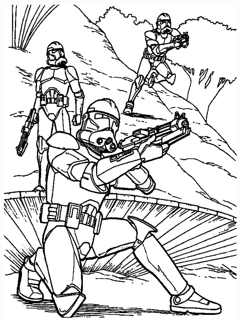 clone wars coloring pages