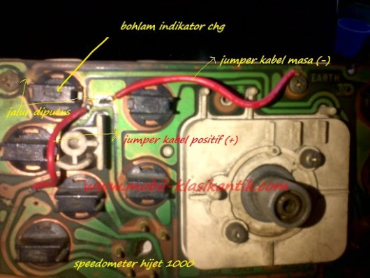 Modifikasi jalur indikator chg pada speedometer hijet 1000