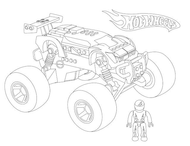[Hot Wheels] Mega Bloks Monster Truck Coloring Page