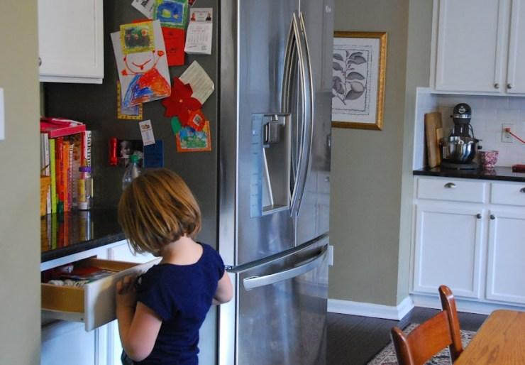 Kitchen Fridge Area