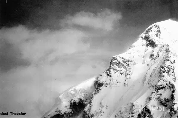 Snow covered peak in Switzerland