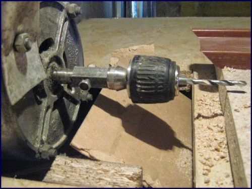 self-made drilling machine based on induction motor