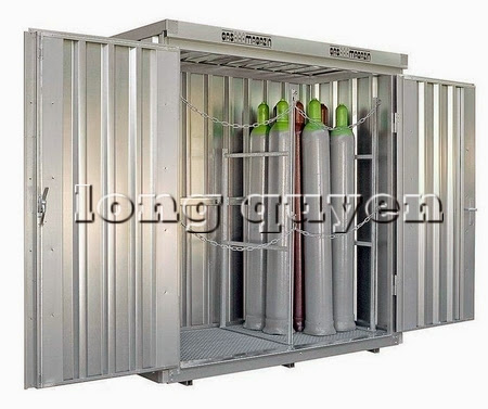 Tủ sắt để bình khí và lỏng ngoài trời G