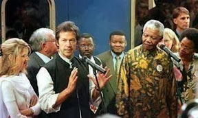 Imran Khan with Nelson Mandela