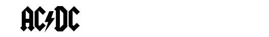 Squealer font logo AC DC
