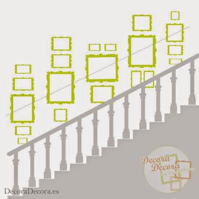 c mo colgar cuadros en una escalera On ideas para colgar cuadros