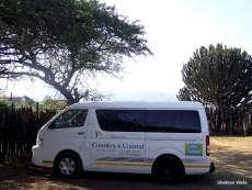 Country & Coastal Touring parked outside Shakaland