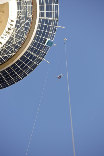 Jumping off the Stratosphere with Sky Jump Las Vegas.