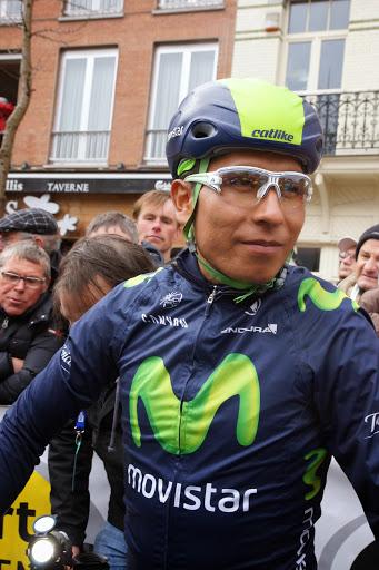 Nairo Quintana, aan de start van Dwars door Vlaanderen in Roeselare