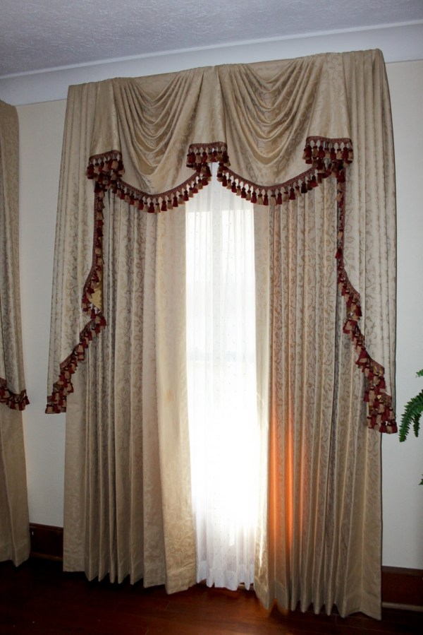 Dawn' Drapes & Decor Elaborate Empire Valance Panels