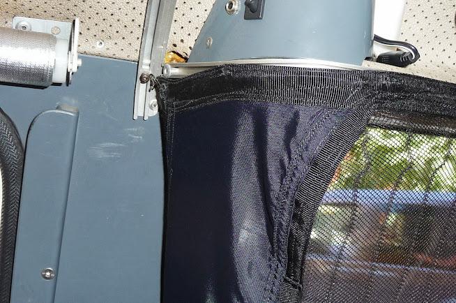 Brico Mosquitera magntica Lidl instalada en puerta corredera