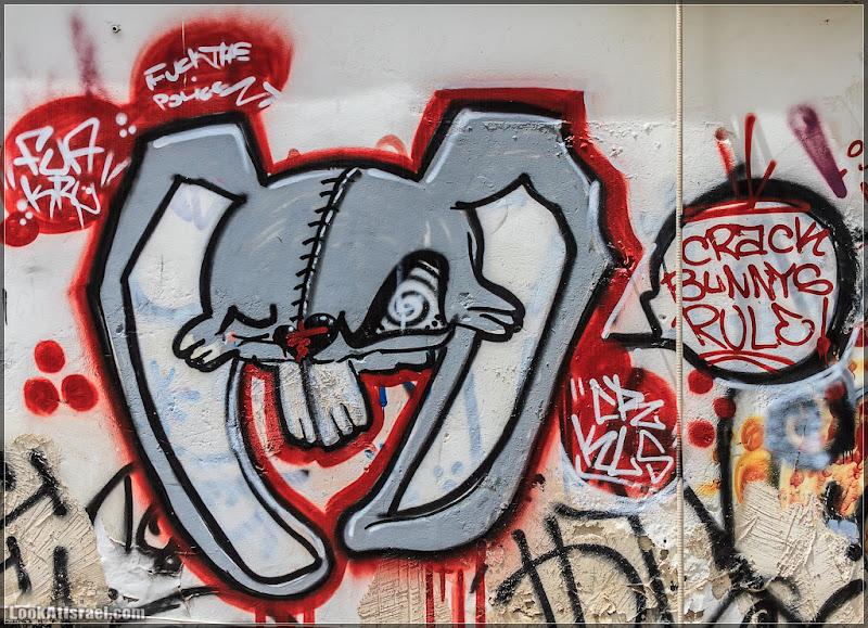 Много граффити Тель Авива
