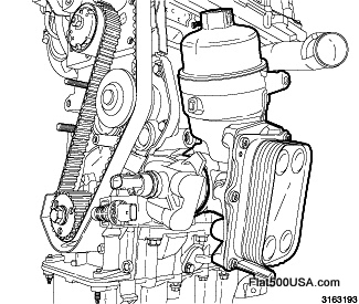 Inside The 2012 Fiat 500 engine.