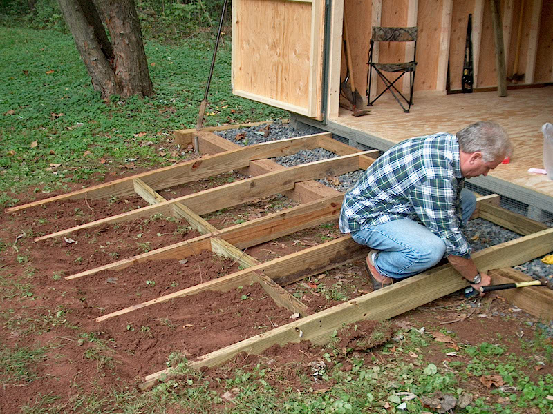 garden shed ramp woodworking