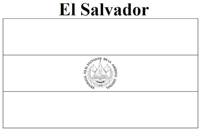 Geography Blog: El Salvador Flag Coloring Page
