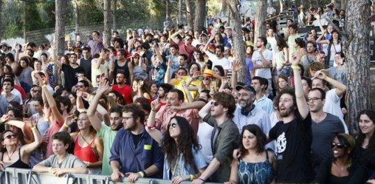 """מנשה, הקהל. צילום: גיא פריבס יח""""צ"""