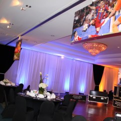 Chair Cover Rentals Dc Red Accent With Arms Bar Mitzvah At The Hilton Rockville Drapes Lighting