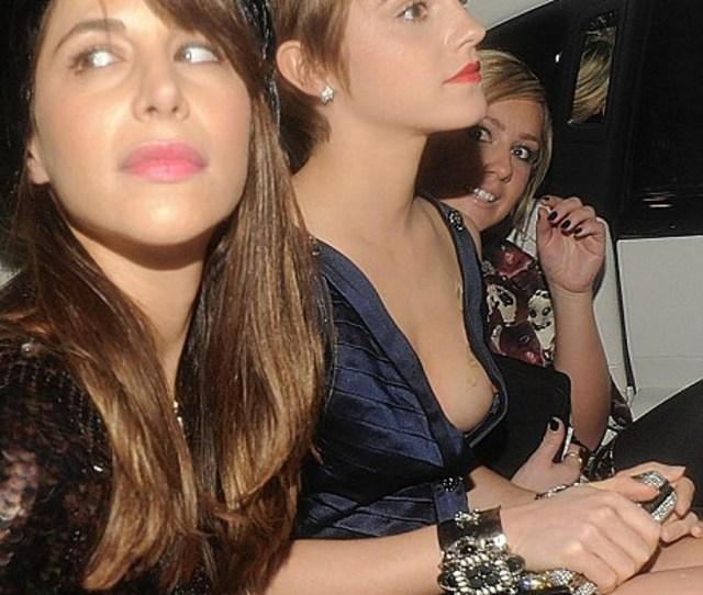 Emma Watson Nip Slip Upskirt