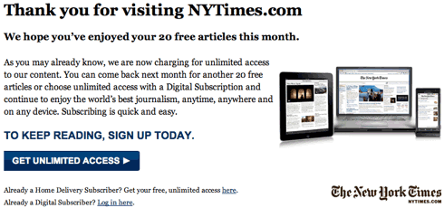 NYTimes Paywall