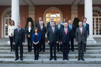 Spain's PM Rajoy and Cabinet