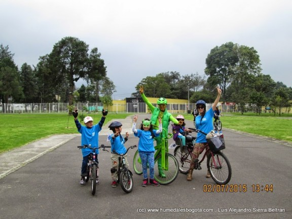 Humedal el Salitre, Greenman y los niños de la bicicaravana