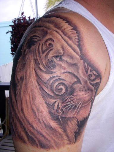 tribal tattoos lion