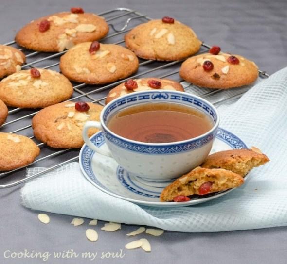Biscuiti cu merisoare si iaurt
